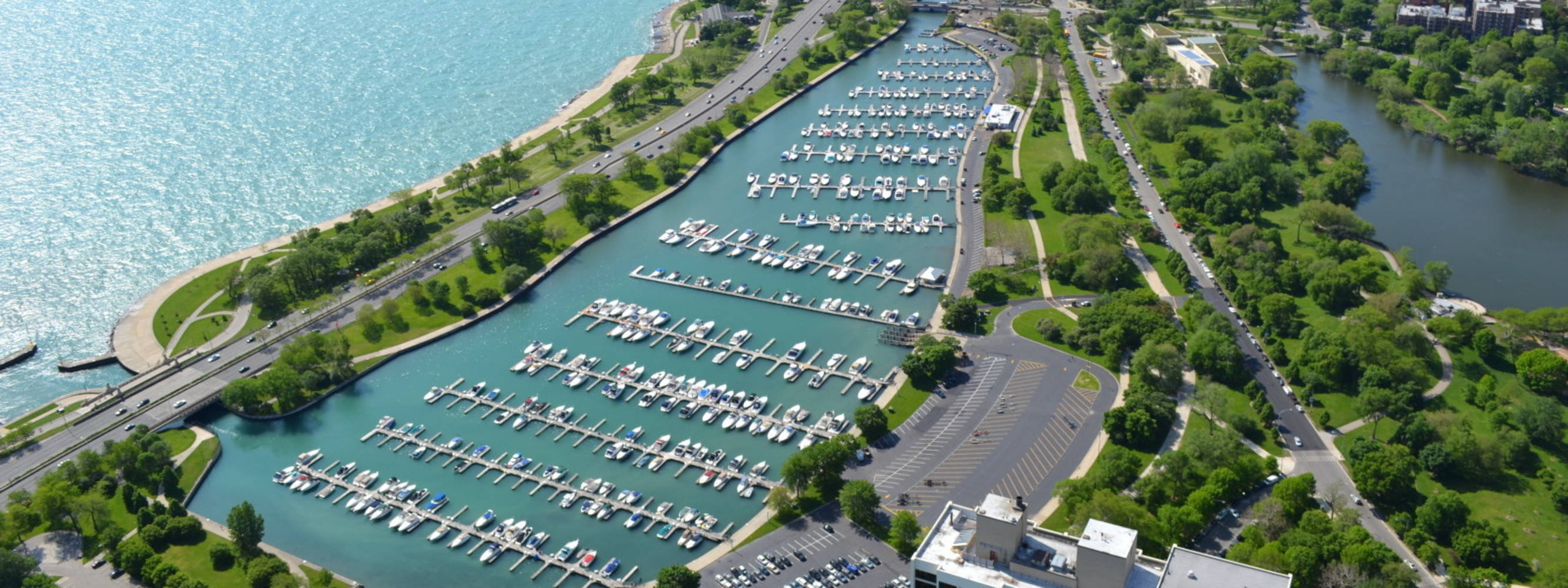 Diversey Harbor Lagoon The Chicago Harbors Slip Dock
