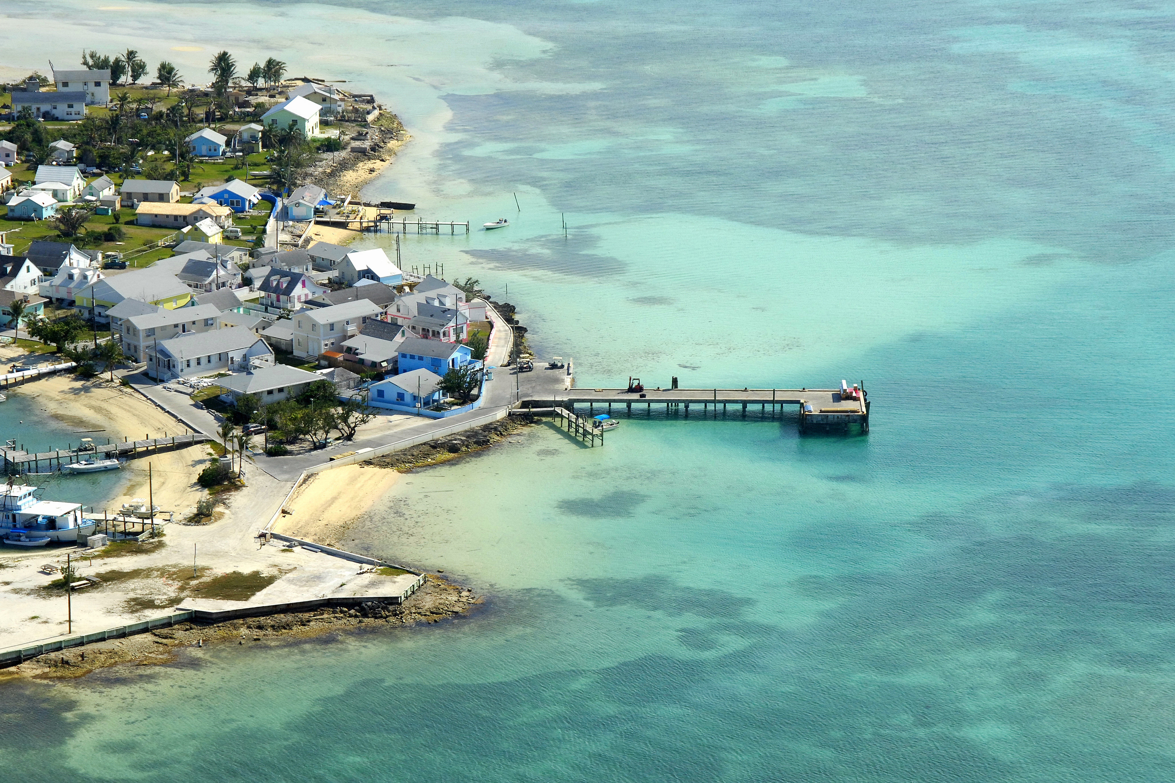 New Plymouth Government Dock In Green Turtle Cay Ab