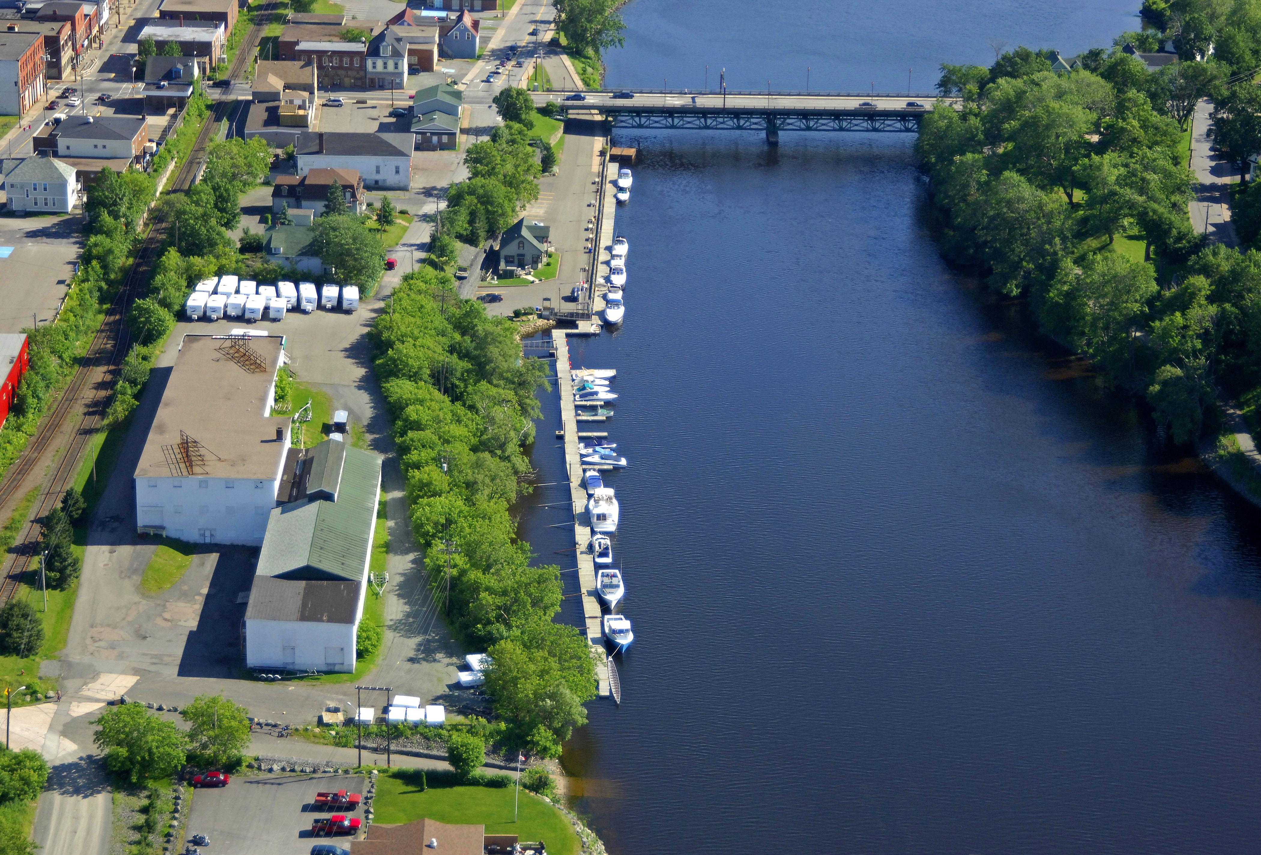 new glasgow riverfront marina in new glasgow  ns  canada