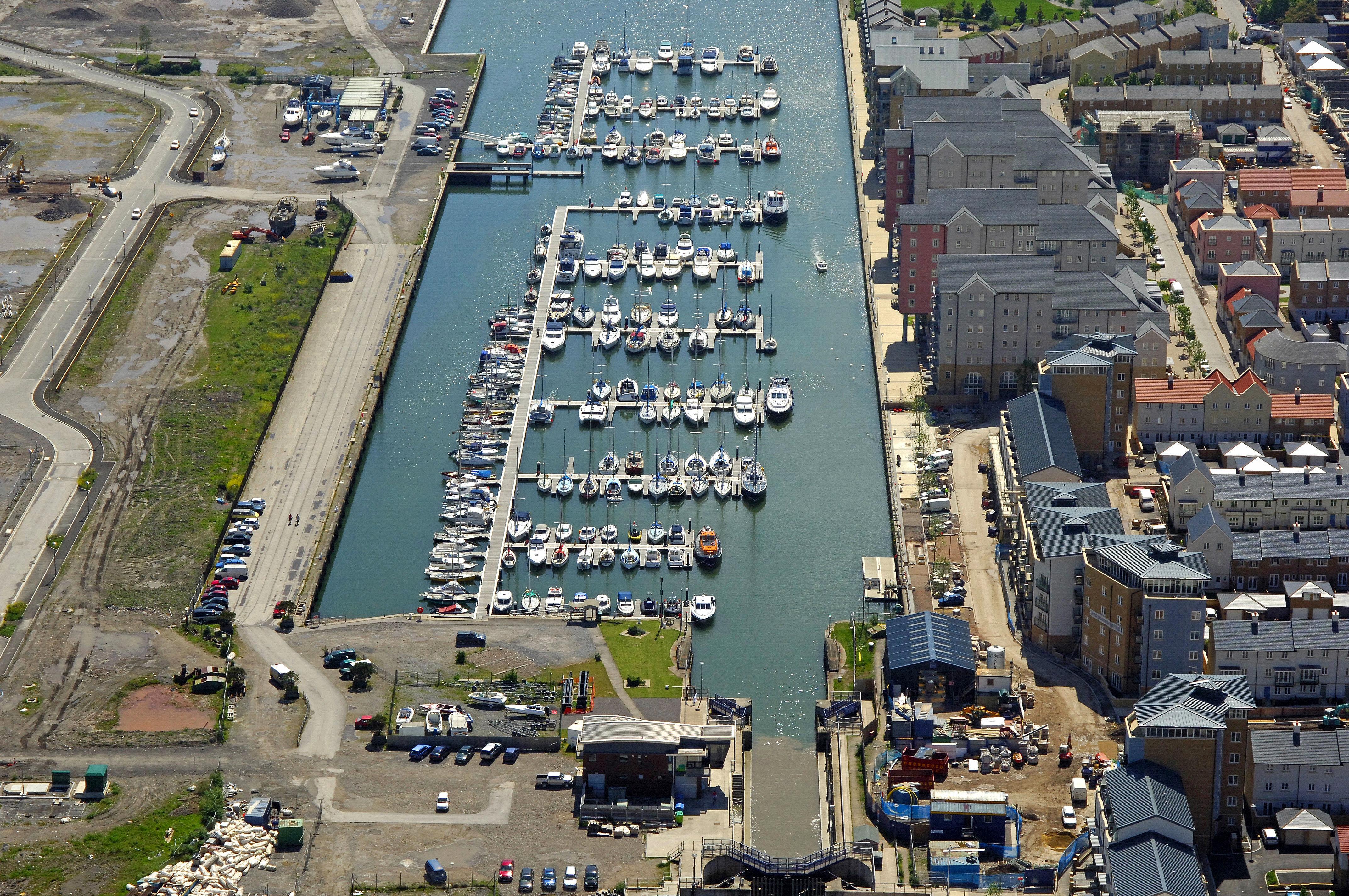 Portishead Quays Marina in Portishead, North Somerset, GB ...