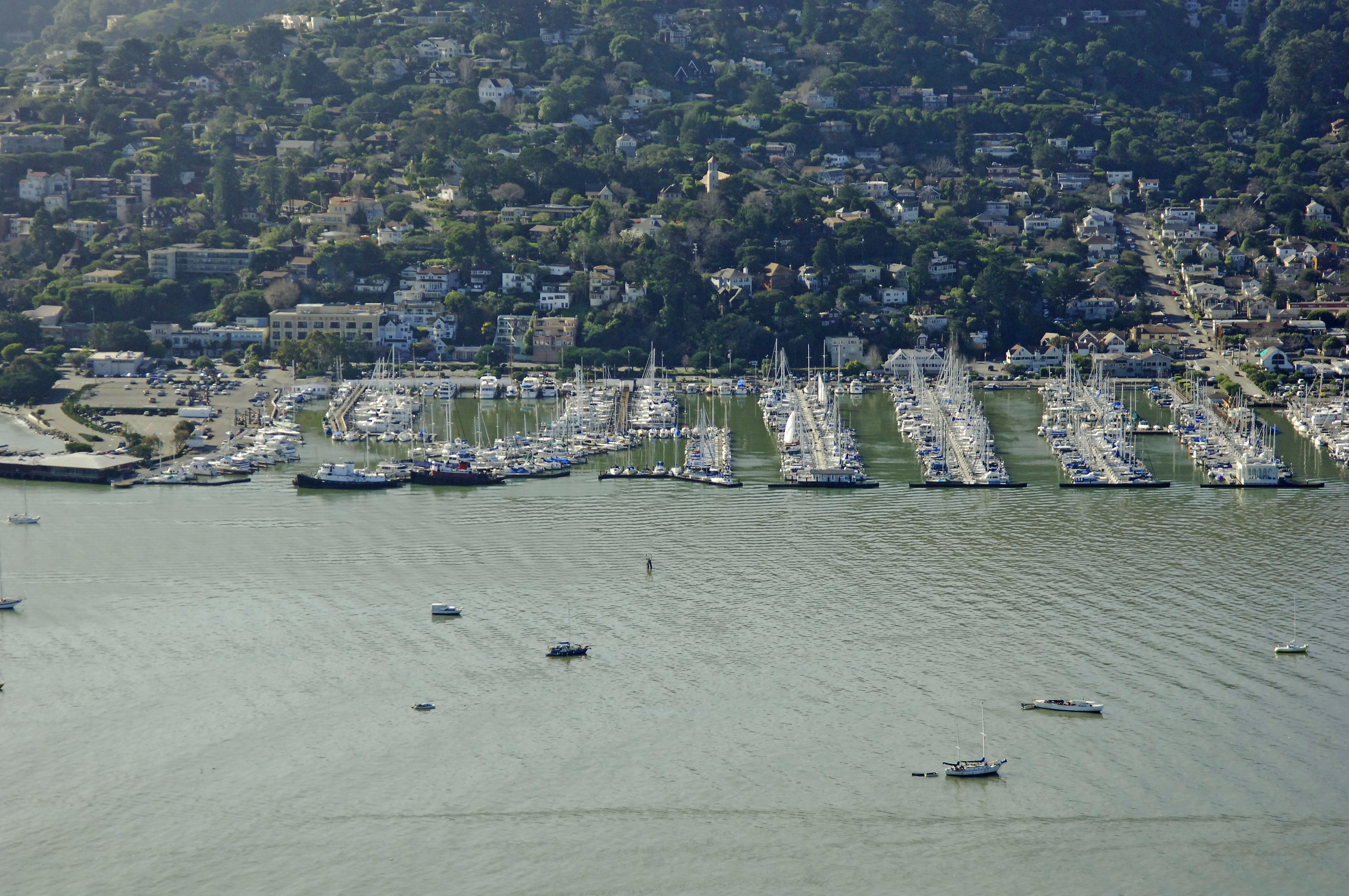 Sausalito Yacht Harbor In Sausalito Ca United States