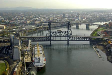 Steel Lift Bridge