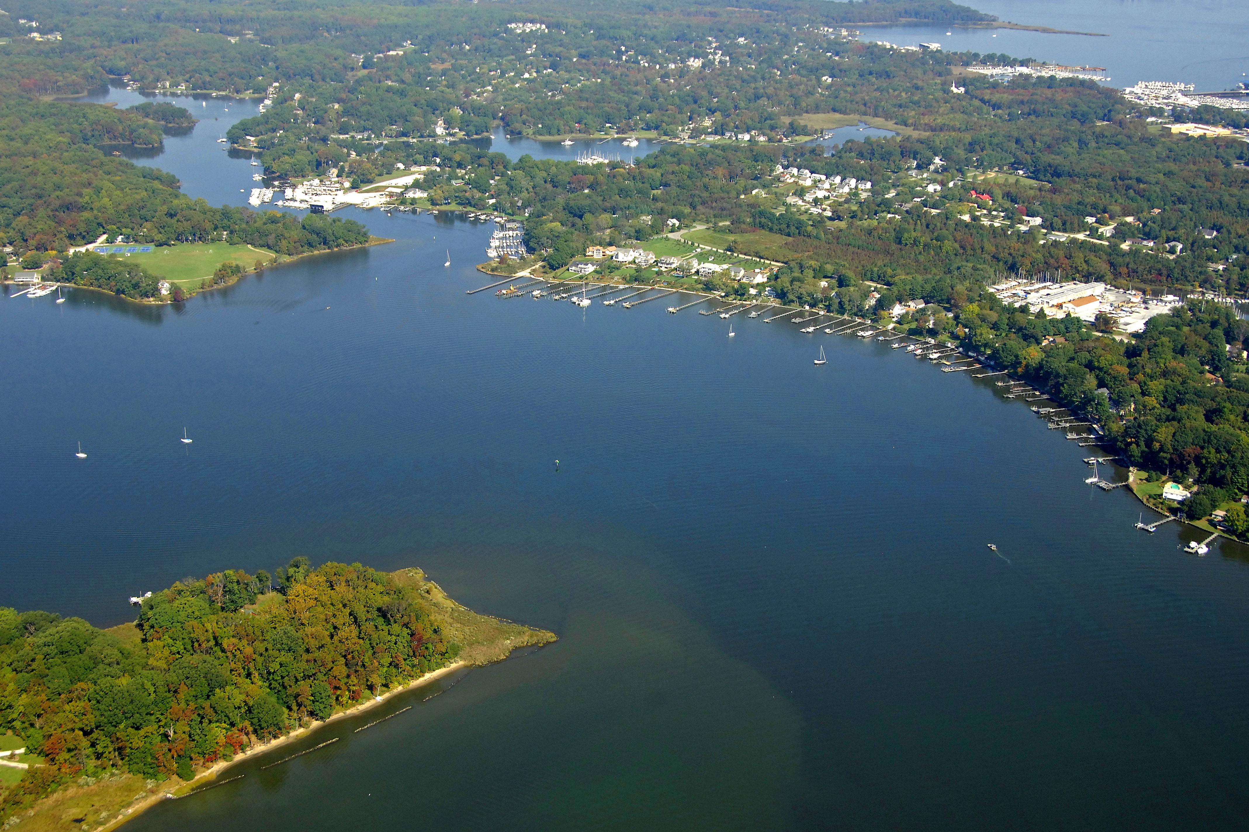 rhode river harbor in cloverlea md united states harbor