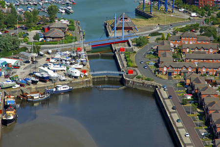Navigation Way Swing Bridge