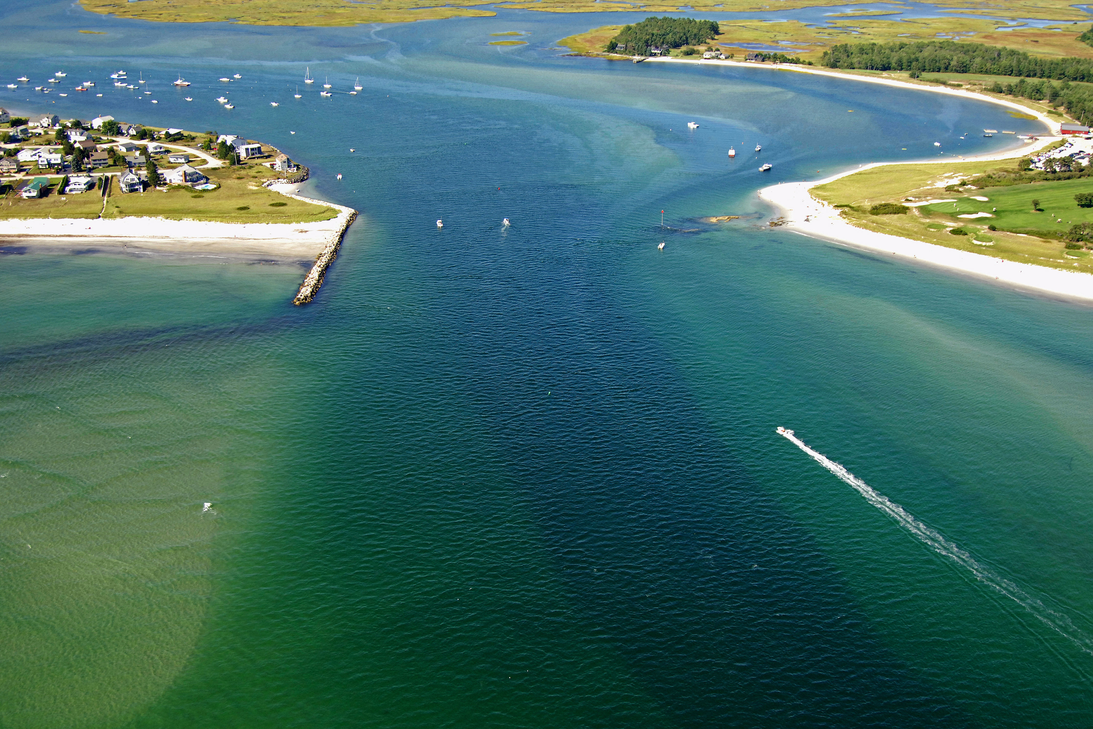 Scarborough River Inlet In Scarborough Me United States Inlet