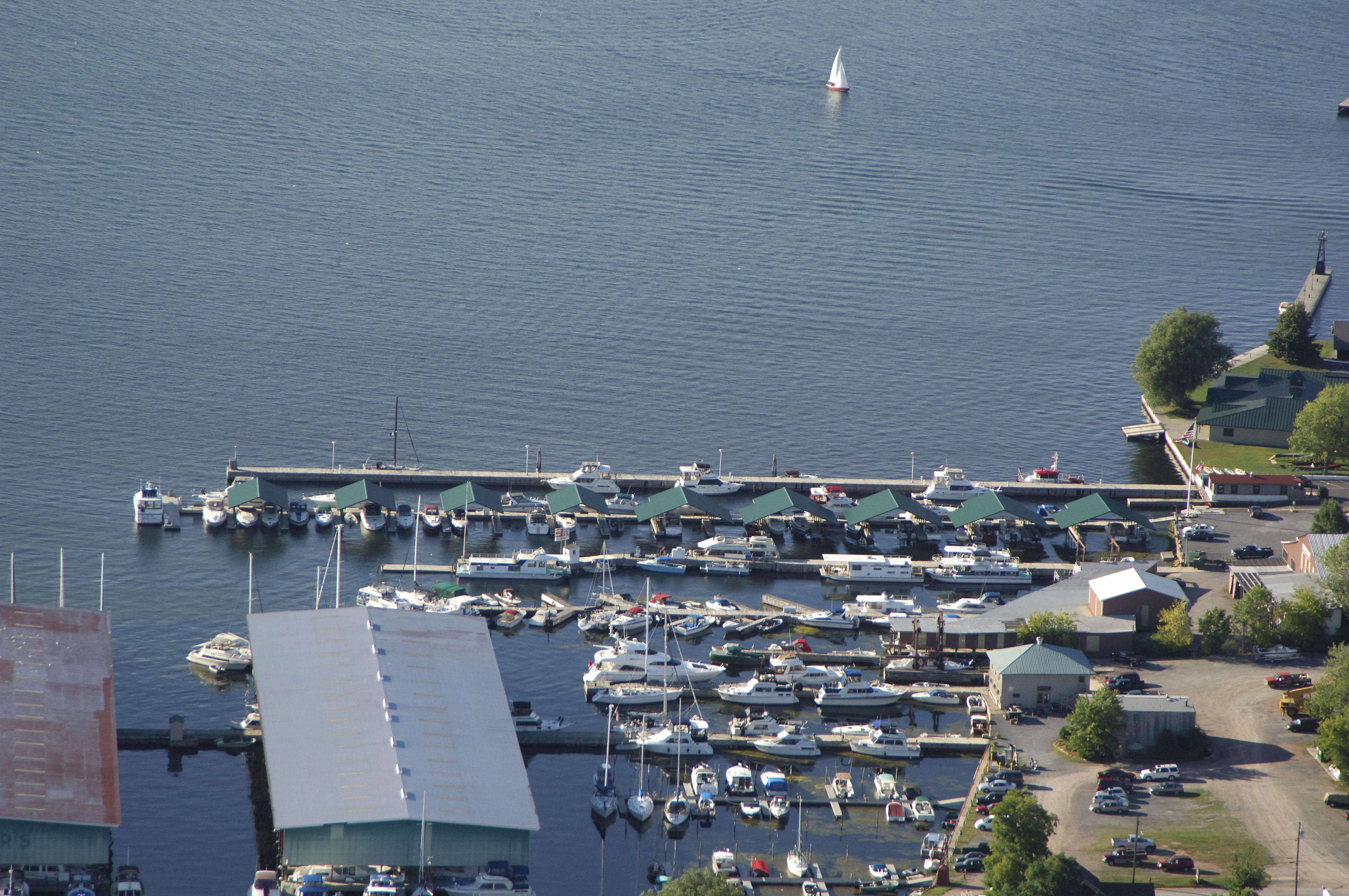 Clayton municipal dock in ny united states