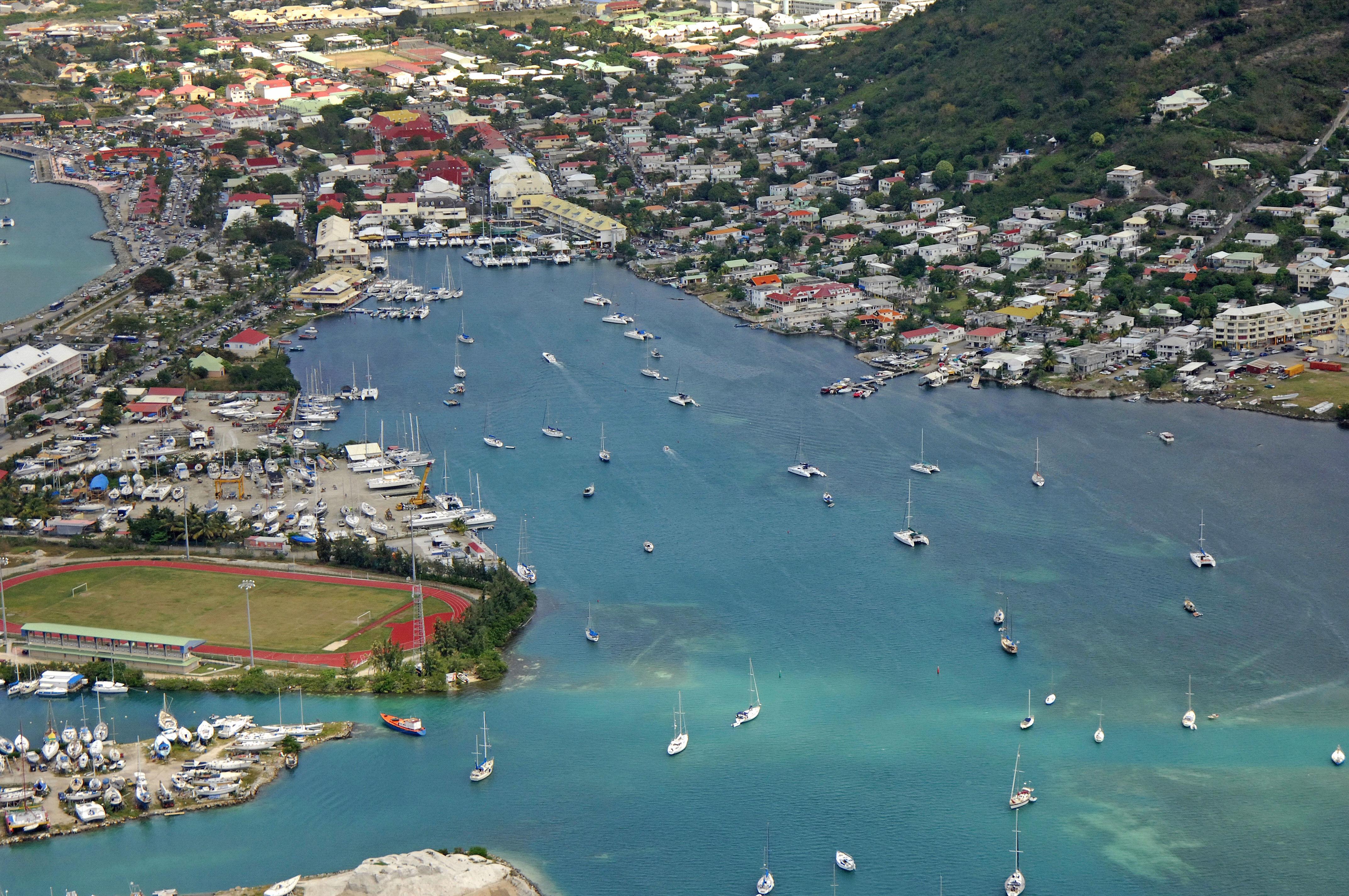 Simpson bay in marigot st maarten netherland antilles - Marina port la royale marigot st martin ...
