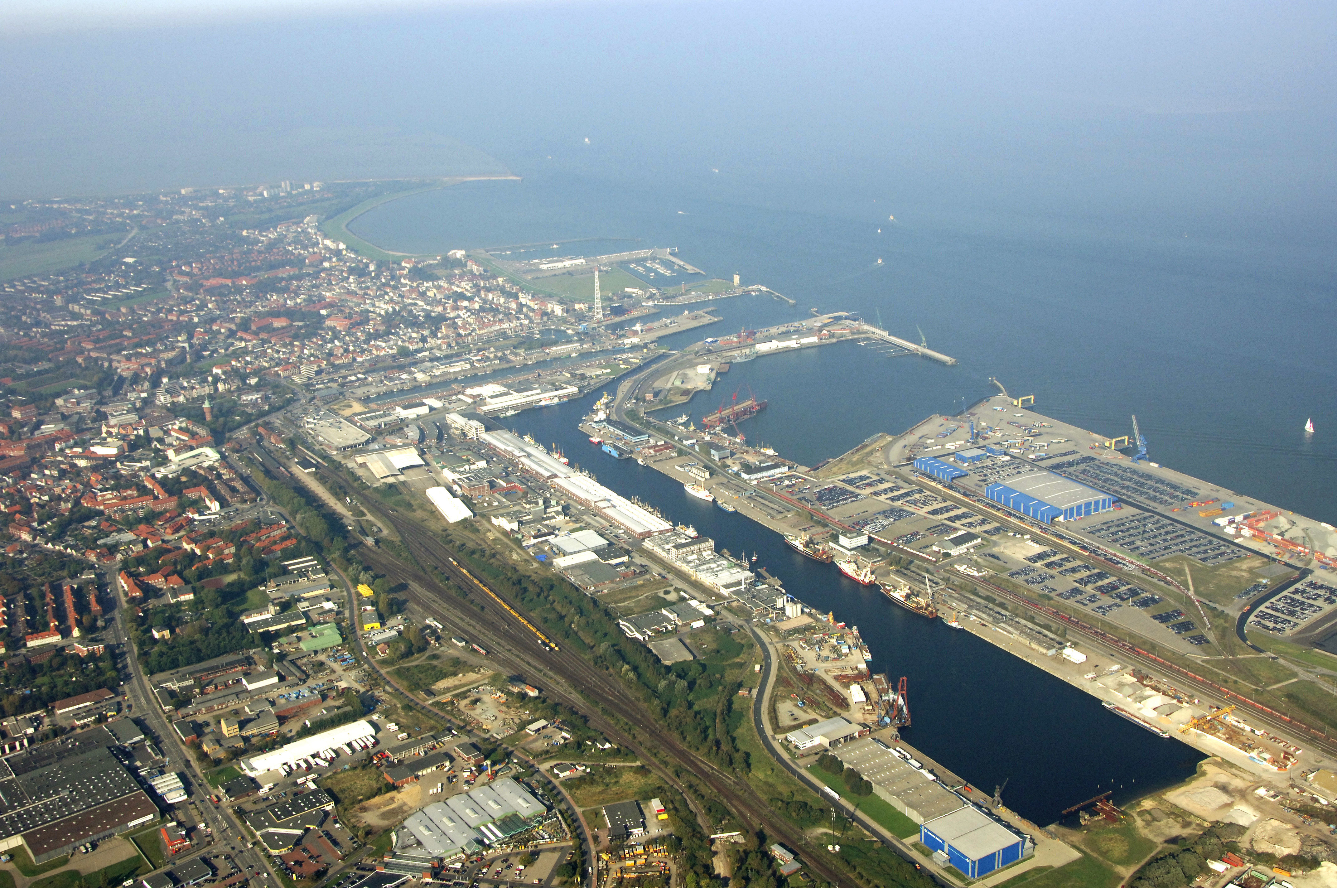 Cuxhaven Harbor in Cuxhaven, Lower Saxony, Germany