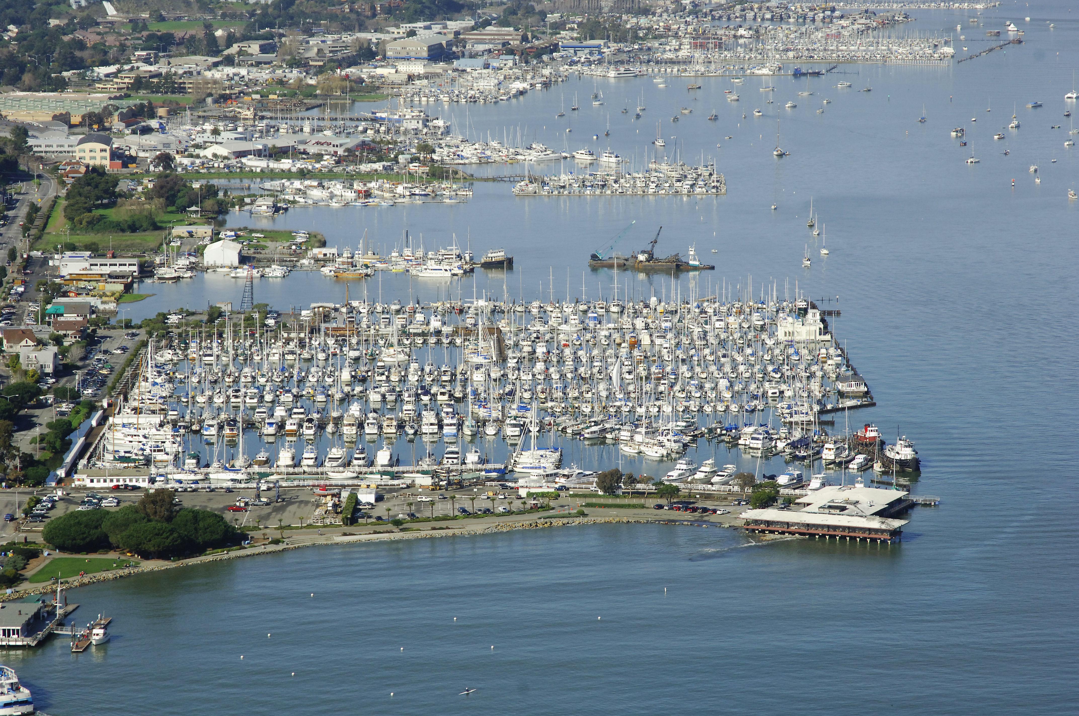 Sausalito Yacht Harbor In Sausalito Ca United States