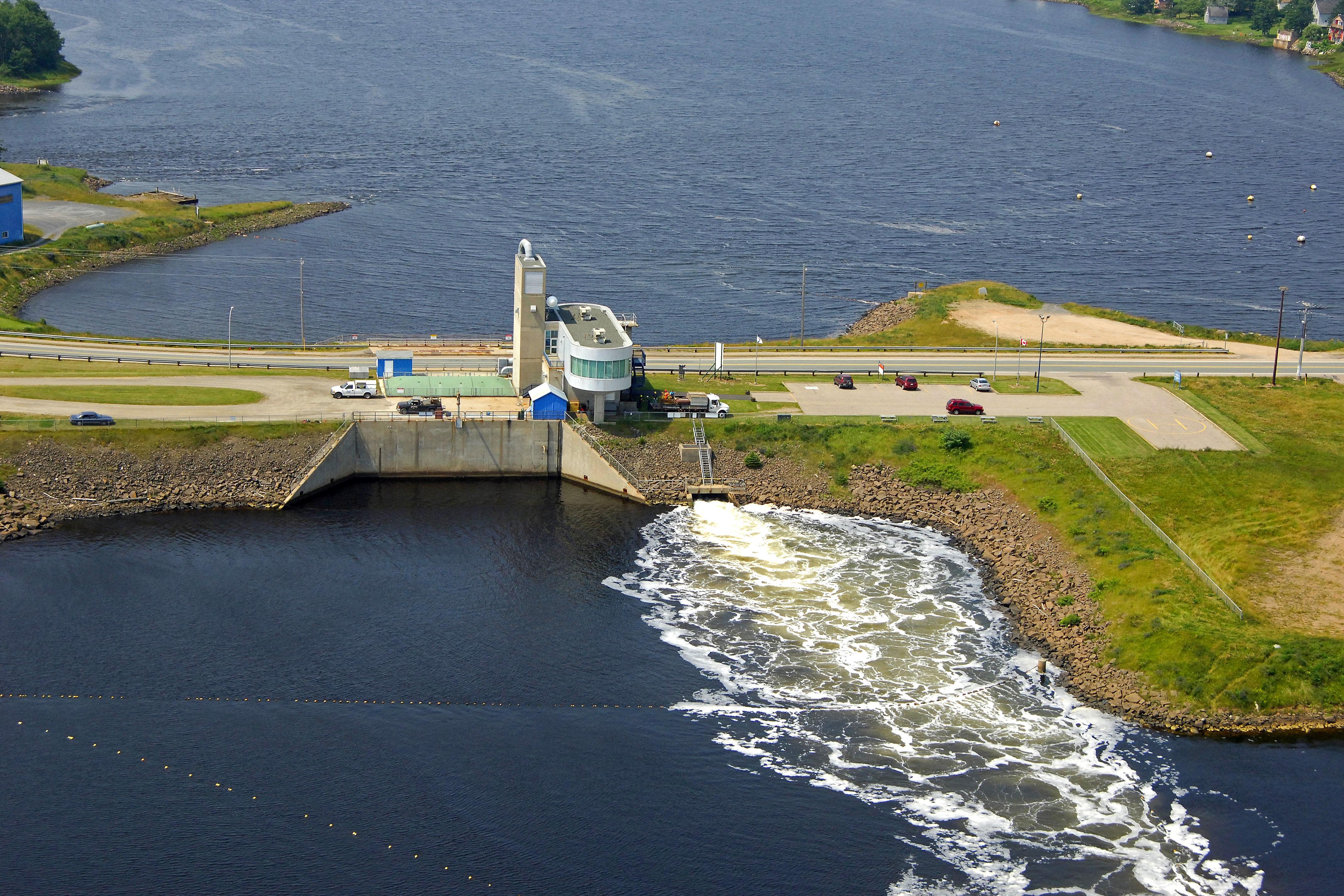 Annapolis Tidal Power Generating Station  North Landmark In Annapolis Royal  Ns  Canada