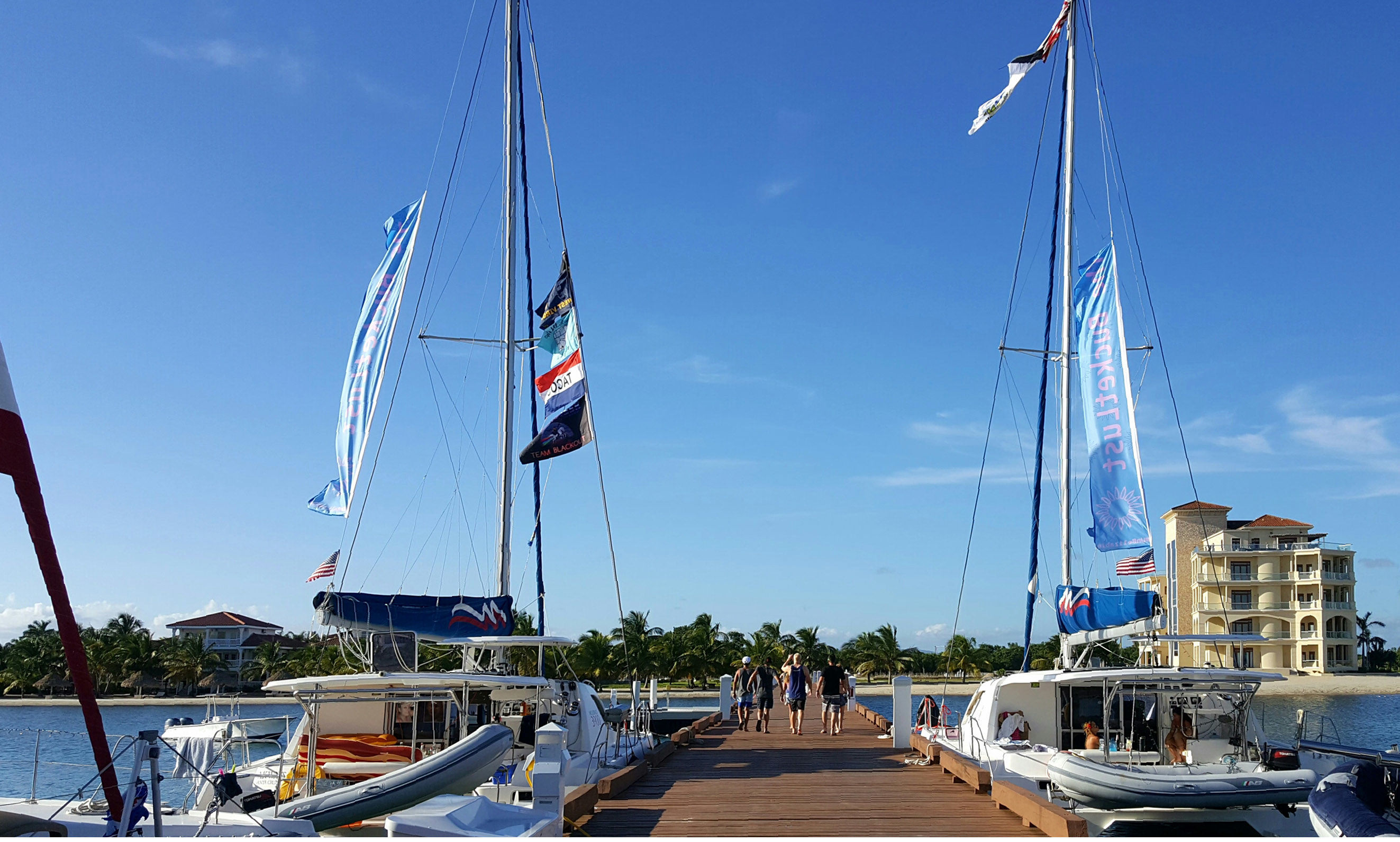 The Placencia Marina in Placencia, Stann Creek District, Belize ...