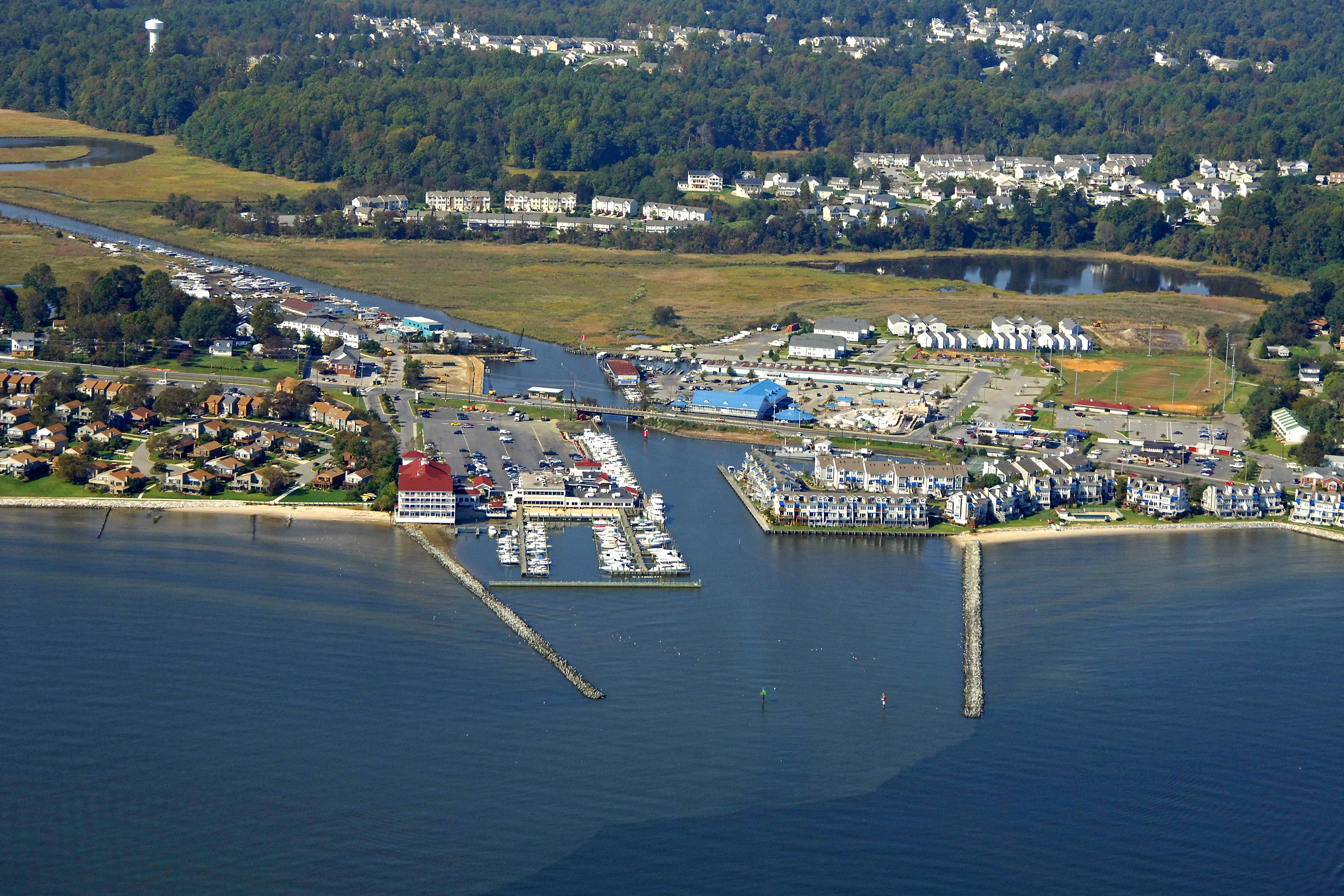 Chesapeake Beach Harbor In Md United