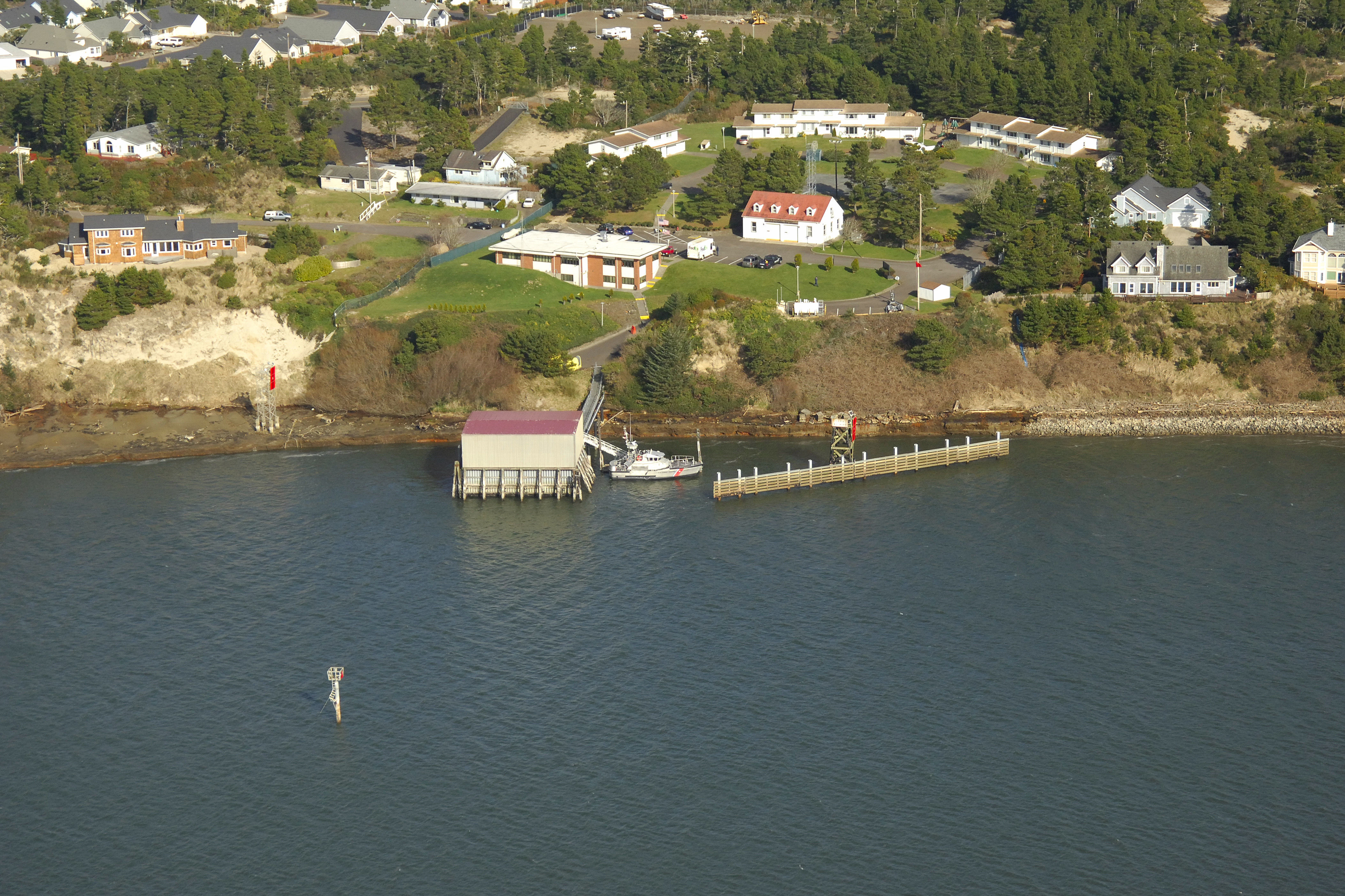Uscg Siuslaw River Landmark In Florence Or United States