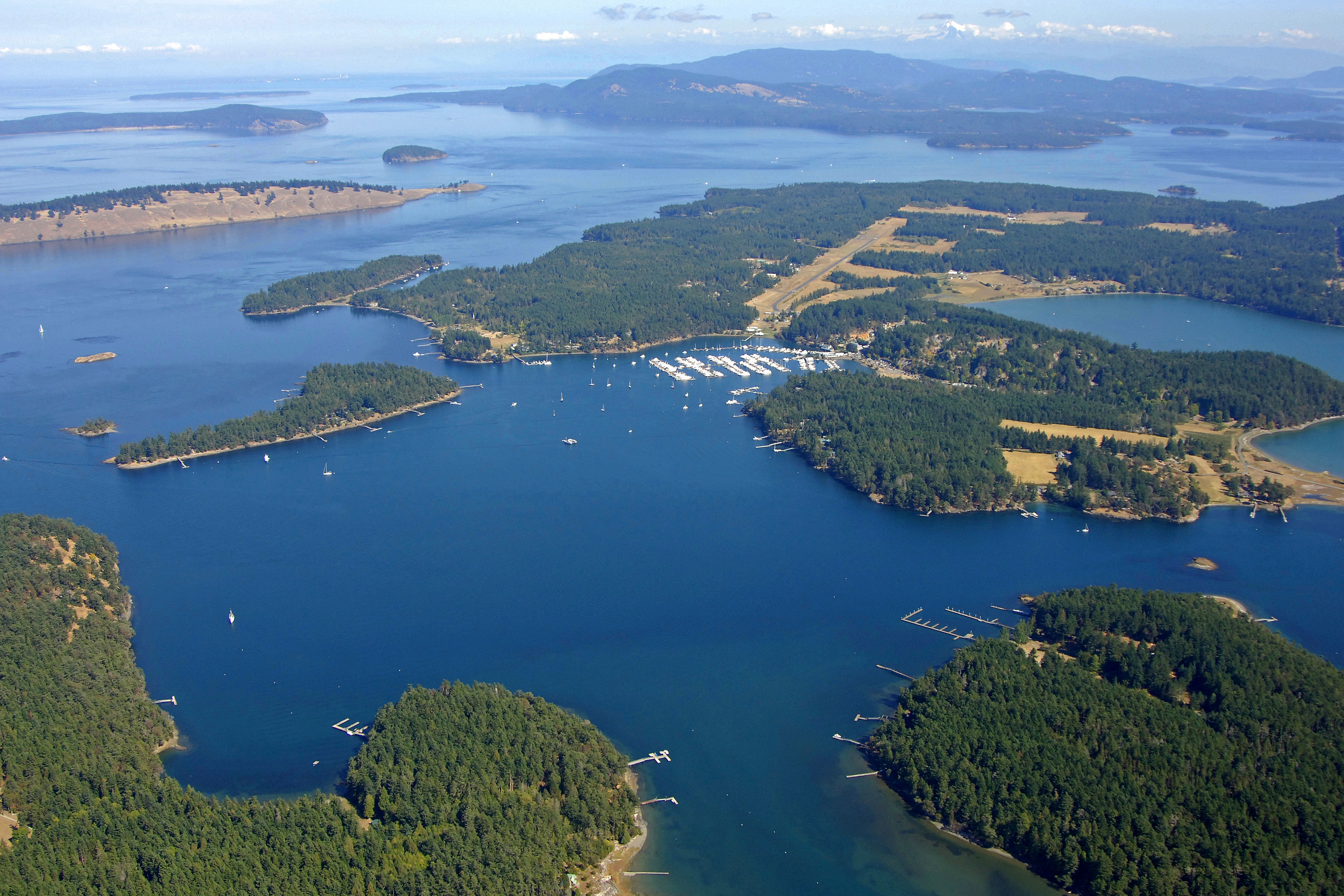 Roche Harbor In Between Henry Island And San Juan Island