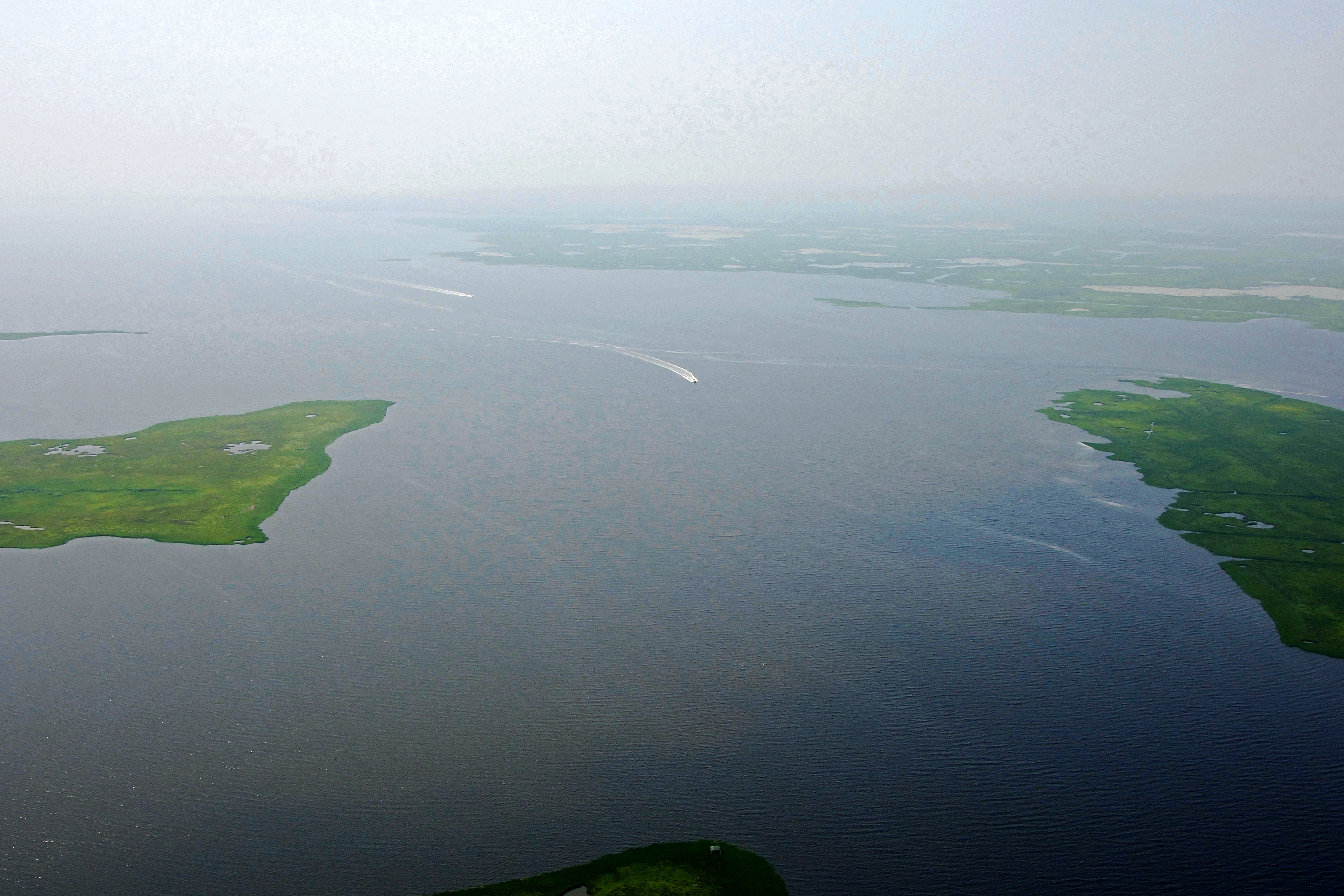 Mullica River Inlet In Mystic Island Nj United States Inlet