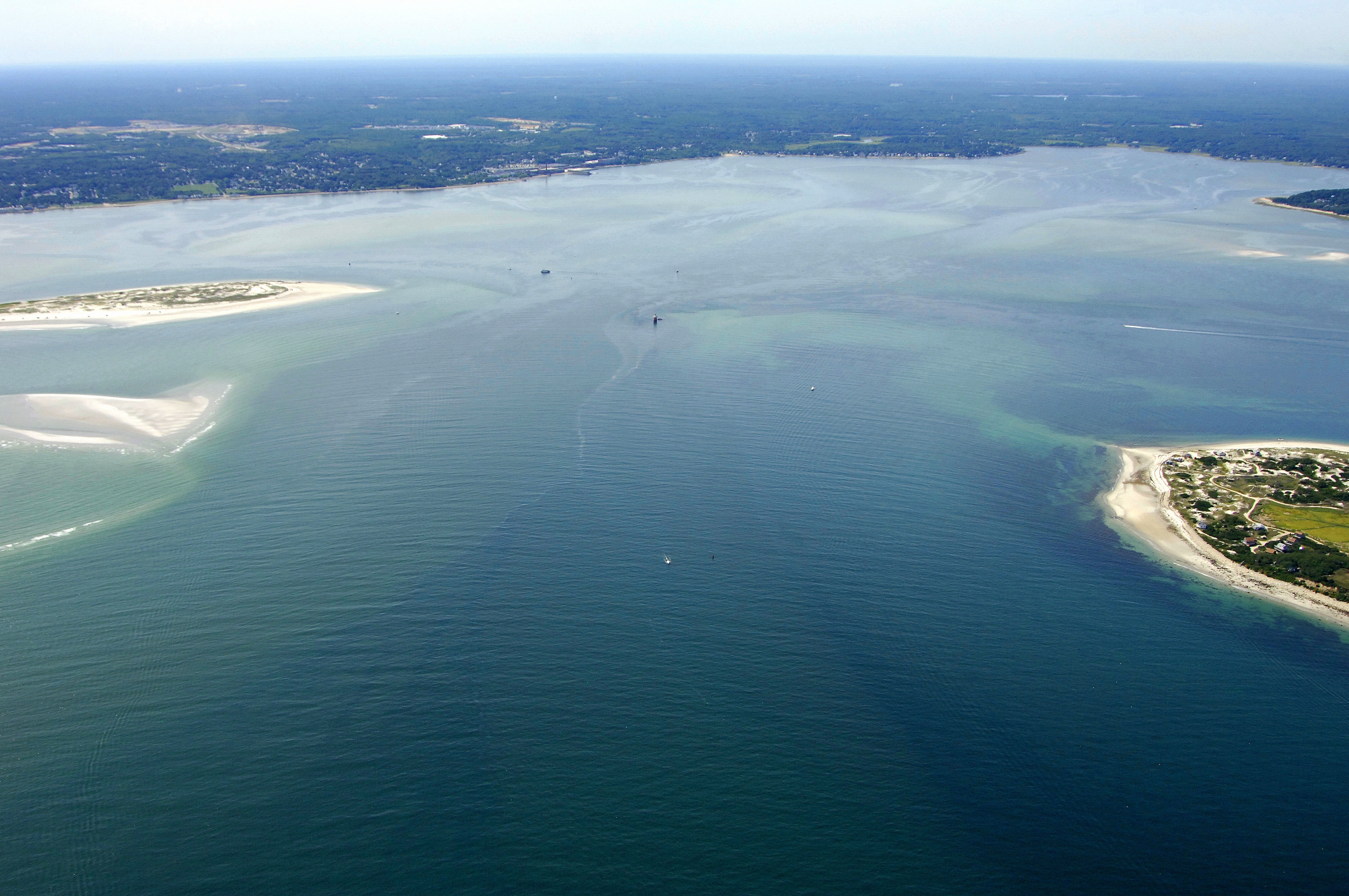 Plymouth Harbor Inlet In Plymouth Ma United States