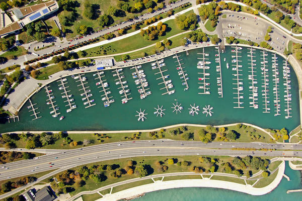 Diversey Harbor Lagoon, the Chicago Harbors