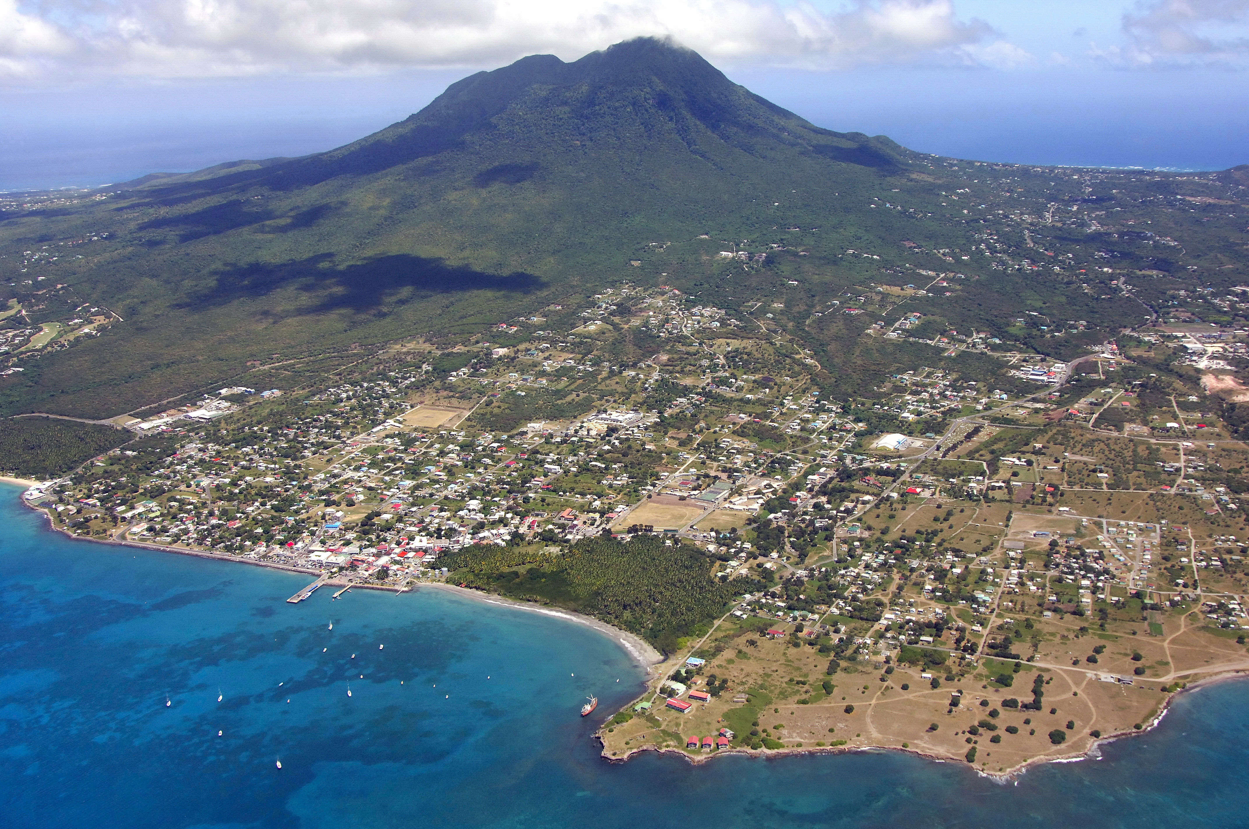 Charlestown Harbor in Charlestown, Nevis Island, Saint ...