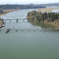 Umpqua River Union Pacific RailRoad Swing Bridge