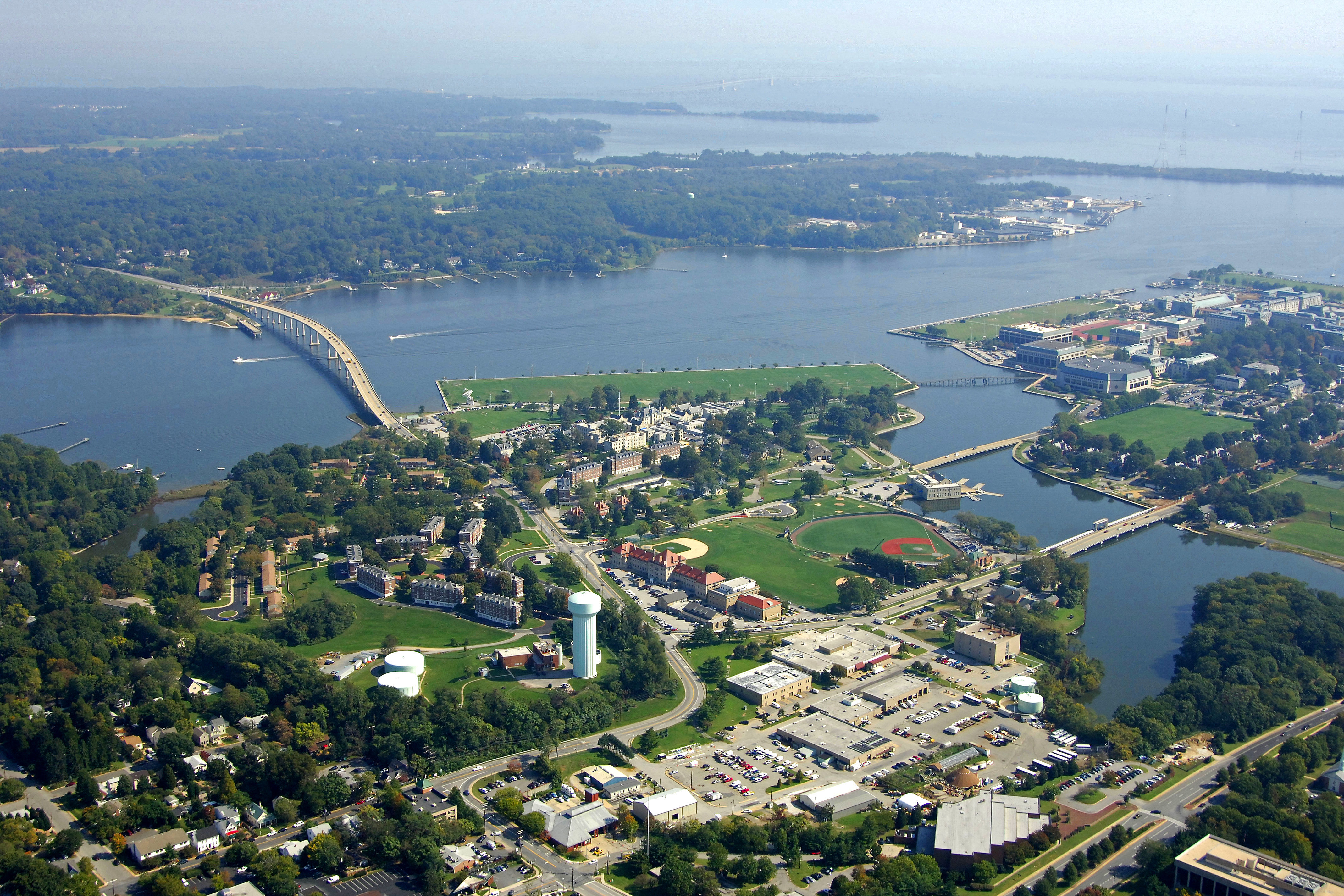 severn river harbor in ferry adams  md  united states